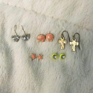 Set of Random Claire's Earrings